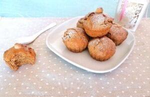 Muffin alle mandorle vegani e integrali
