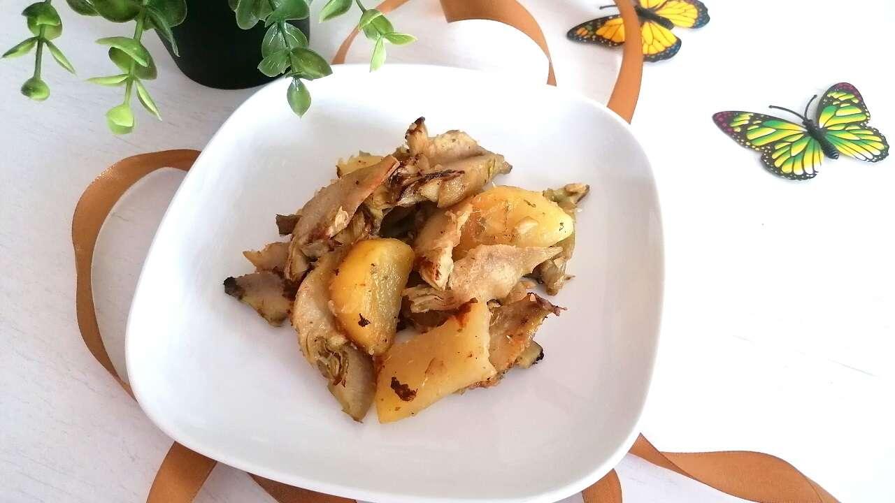 Carciofi e patate in padella 3