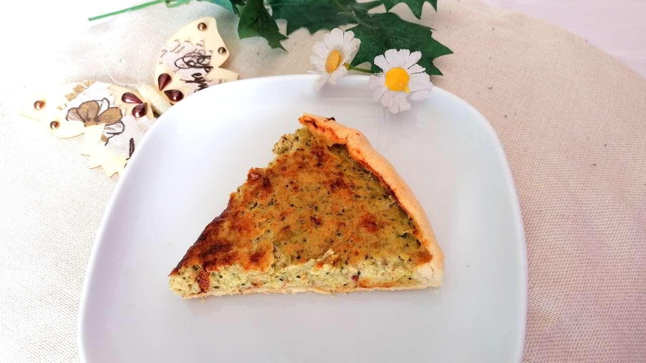 Torta salata con crema di zucchine 4