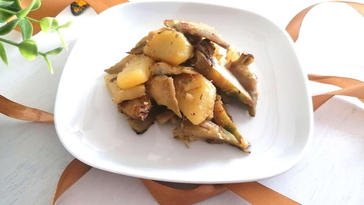 Carciofi e patate in padella 4